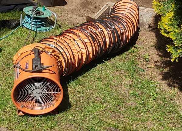 Degazage cuve à fioul par ventilation
