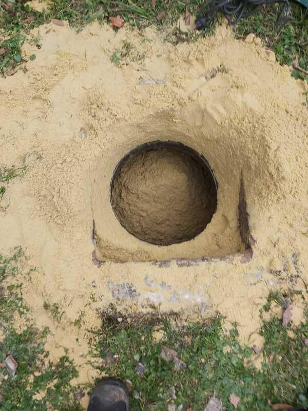 Neutralisation cuve fioul avec du sable